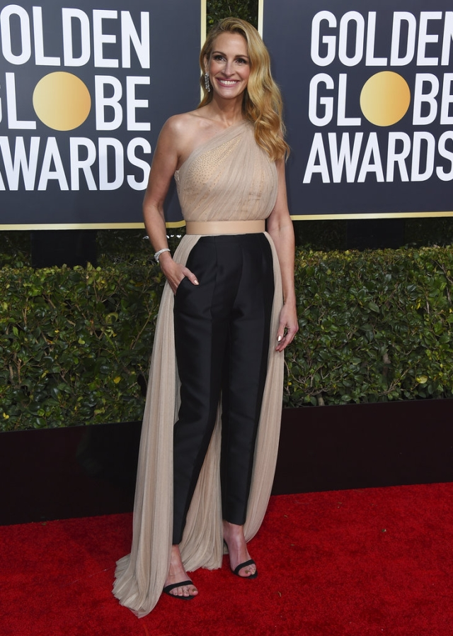 Julia Roberts  at the 76th annual Golden Globe Awards in a Stella McCartney design.