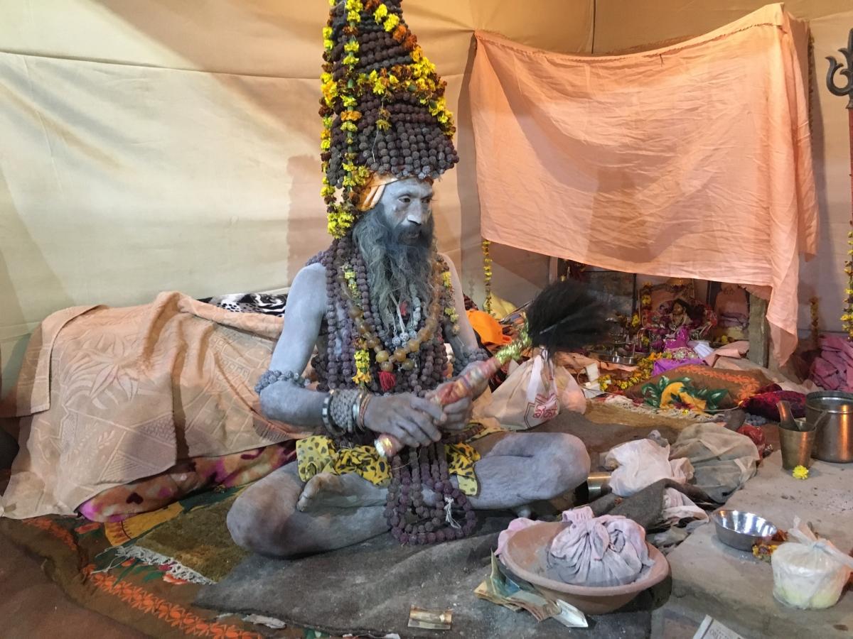 This baba owns 7,500 Rudraksha beads.