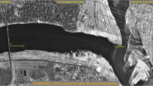 This Is How Kumbh Mela Looks From Space, ISRO Releases Images