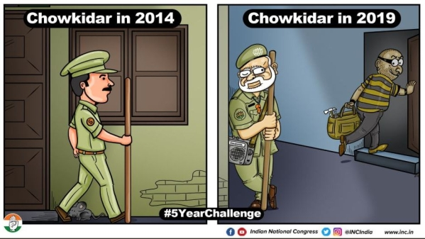 Congress, BJP Engage in War of Memes Over #5YearChallenge