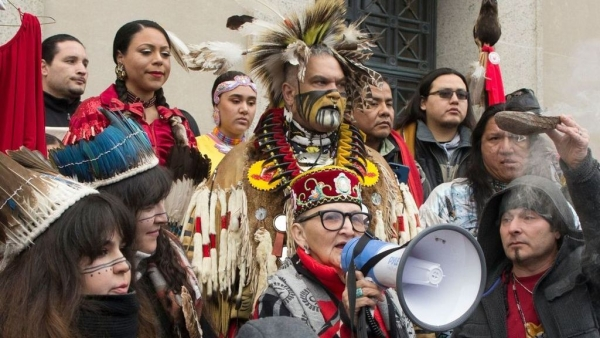 Picture from Indigenous People's March on Friday, 18 January.