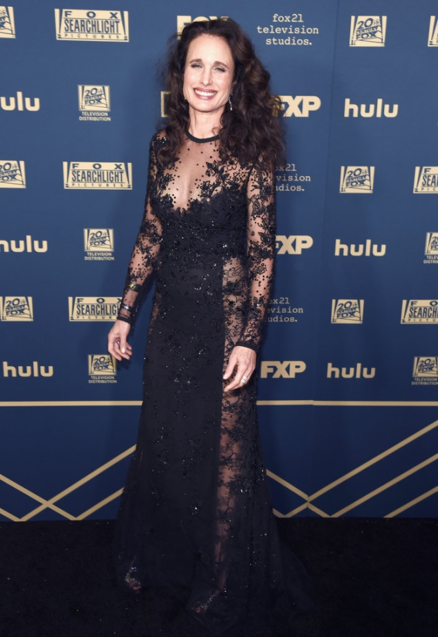 Andie MacDowell on the red carpet.