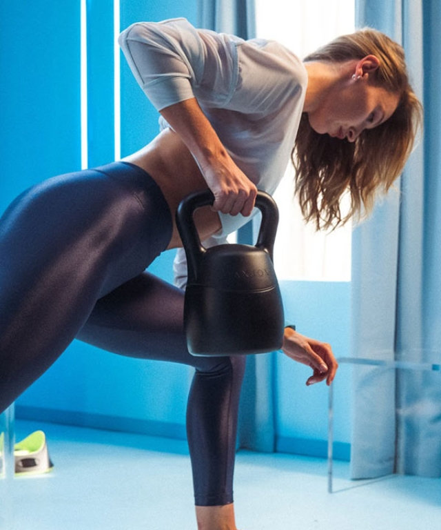 The kettle comes with a companion app to measure user workout.