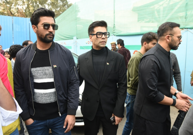 Vicky, Kaushal and Rohit arrive in style.