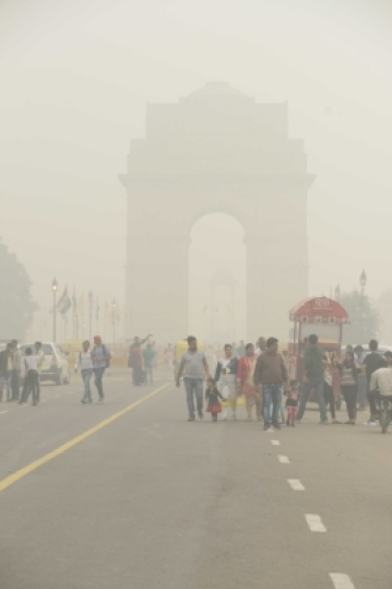 Contrary to pollution forecast, the overall air quality in Delhi and adjoining areas turned