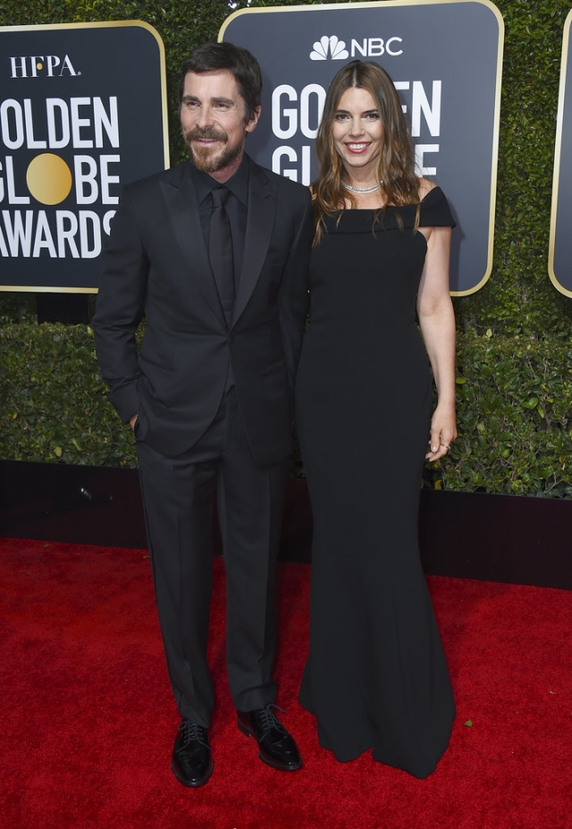 Christian Bale (left) and Sibi Blazic on the red carpet.