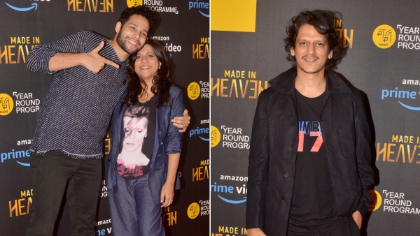 Siddhant Chaturvedi, Zoya Akhtar and Vijay Varma at the screening of <i>Made in Heaven</i>.
