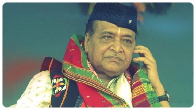 File photo of later singer Bhupen Hazarika.