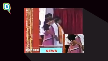 Screen grab of unverified video: Tripura Minister allegedly sexually harasses female colleague.