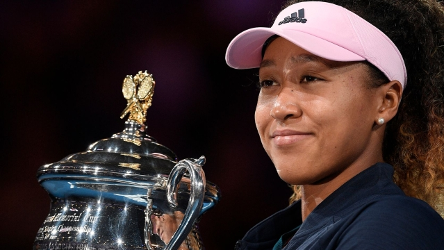 Osaka beat Petra Kvitova in three sets in the Australian Open final on January 26.