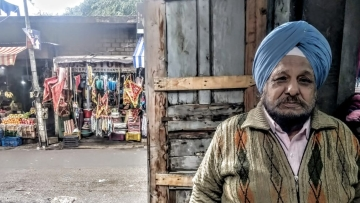 Harinder Singh is now 74, thirty years ago his shop was burnt down in the anti-Sikh riots that erupted  in Jammu a week after Indira Gandhi's assassins, Kehar Singh and Satwant Singh, were executed.