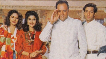Madhuri Dixit and Alok Nath worked together in <i>Hum Aapke Hain Kaun</i>.