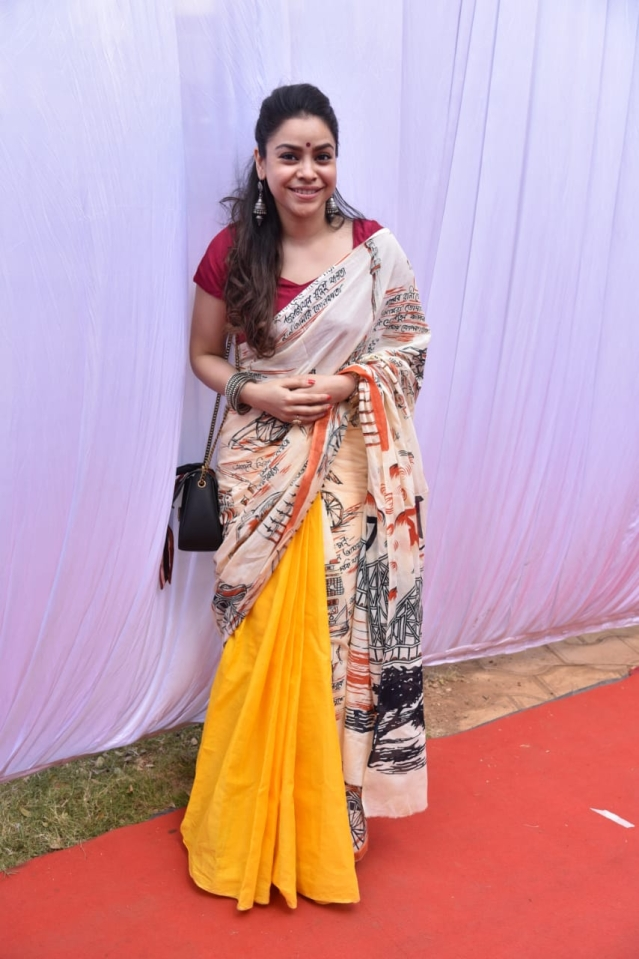 <i>Comedy Nights With Kapil</i>'s Sumona Chakravarthi smiles for the cameras.
