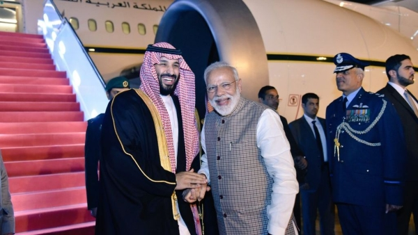 PM Modi received the Saudi Crown Prince in New Delhi on Tuesday, 19 February.
