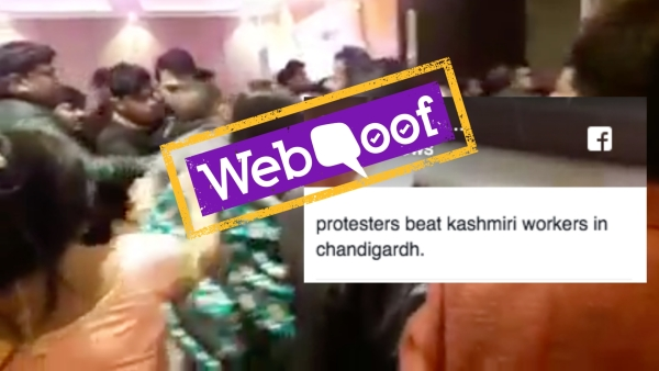 Video Claiming Kashmiris Were Beaten Up in Chandigarh Is Fake!