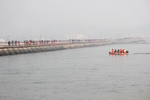 Operation of boats, ferrying pilgrims to the Triveni Sangam, were also stalled owing to overcrowding.