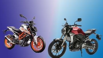 KTM Duke 390 (left) has a new rival in town, the Honda CB300R (right)