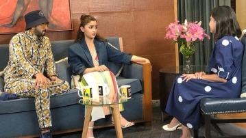 Ranveer and Alia with Anupama Chopra.