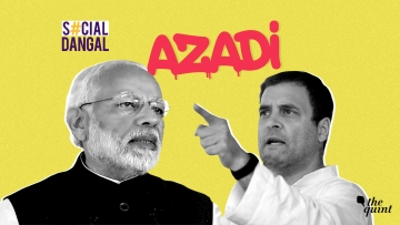 Both the parties posted videos with a reworked Azadi song from Gully Boy.