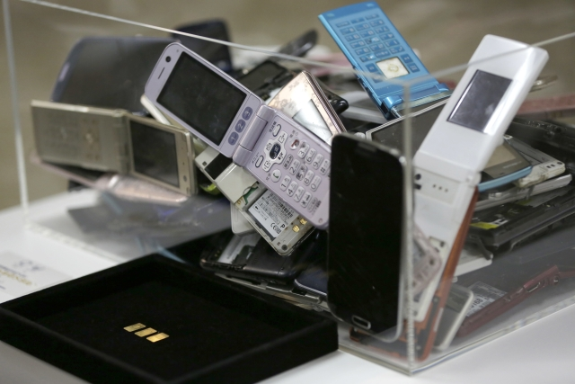 Tokyo's organising committee in 2017 launched a project to collect assorted electronic waste -- including old smartphones and laptops -- from the public.