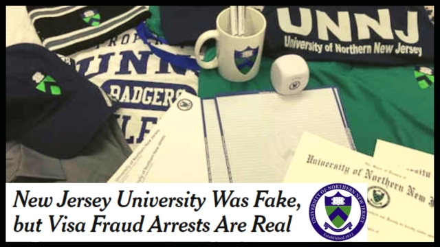 Before the University of Farmington began, there was the University of Northern New Jersey – another fake university set up by US authorities.