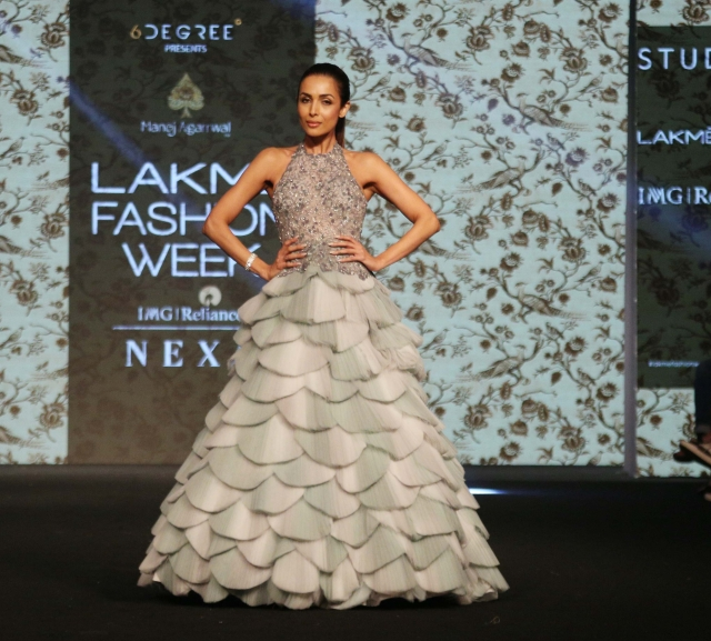 Malaika Arora stunned in a floaty ensemble by Manoj Agarrwal.