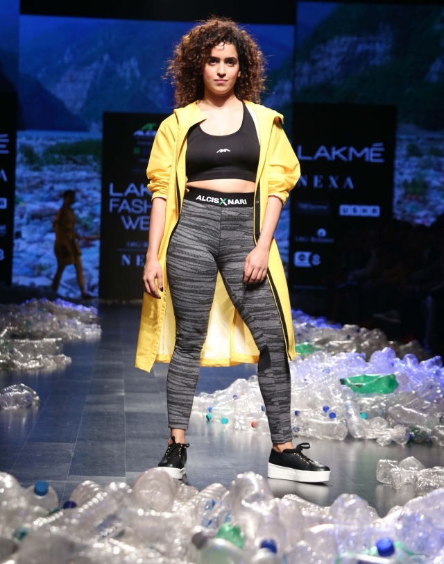 Sanya Malhotra carries off athleisure with ease.
