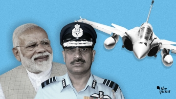 PM Modi (L) never interfered in the Rafale deal negotiations, says Air Marshal SBP Sinha (C).