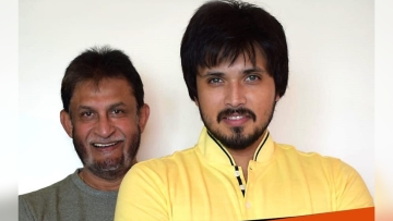 Sandeep Patil with son Chirag.