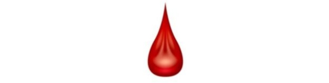 Here's what the period emoji looks like.