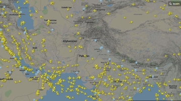 Air traffic in the India-Pakistan transit area was re-routed or otherwise affected. Domestic and international flights were either suspended or re-routed.