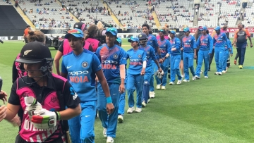 New Zealand beat the Indian women by four wickets.