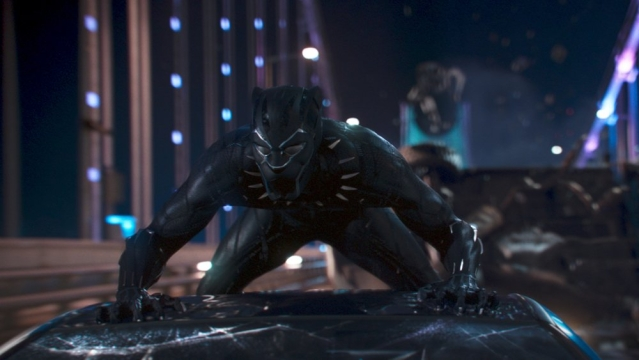 A still from <i>Black Panther.</i>