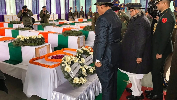 The ceremony at which tribute was paid to the martyred jawans.