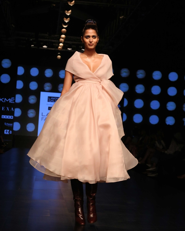 Gauri and Nainika's 'Art of Latte' collection at Lakme Fashion Week.
