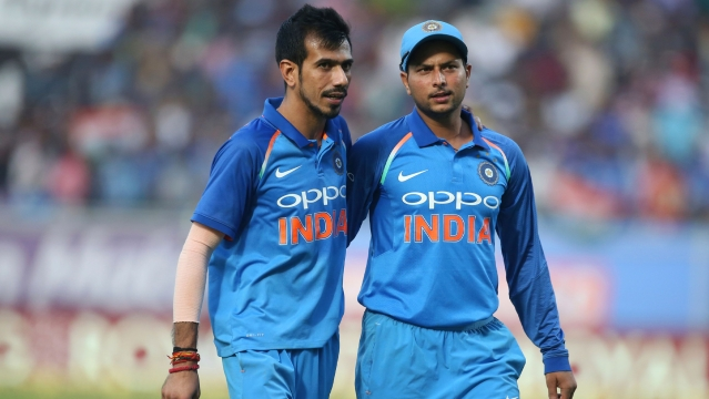 File picture of Yuzvendra Chahal (left) and Kuldeep Yadav.