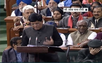 New Delhi: Union Finance and Corporate Affairs Minister Piyush Goyal presents interim Budget for 2019-20 in Lok Sabha, in New Delhi on Feb 1, 2019. (Photo: IANS/RSTV)