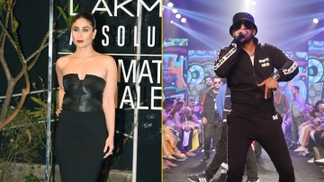 Kareena Kapoor and Ranveer Singh at Lakme Fashion Week 2019.