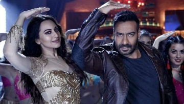 Sonakshi Sinha and Ajay Devgn in <i>Mungda</i>.