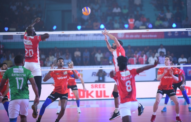 Skipper Dipesh Kumar Sinha stood out with 11 points (7 spikes, 3 blocks and 1 serve) for U Mumba Volley.