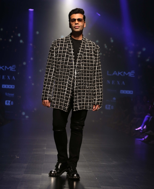 Karan Johar is a cool cat on the ramp.