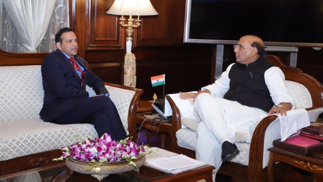 The High Commissioner of India to Pakistan, Ajay Bisaria, and Union Home Minister Rajnath Singh.
