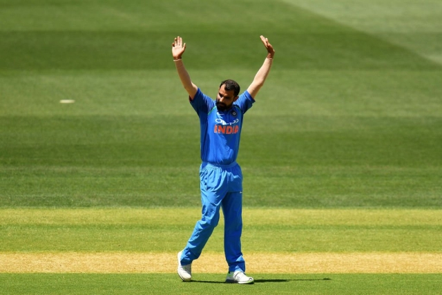 Mohammed Shami was named Player of the Series during India's 4-1 win in New Zealand after returning nine wickets in four ODIs.