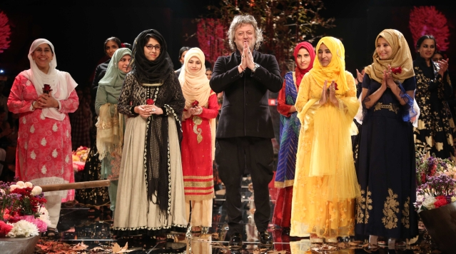 Designer Rohit Bal collaborated with Kashmiri artisans for his latest collection.