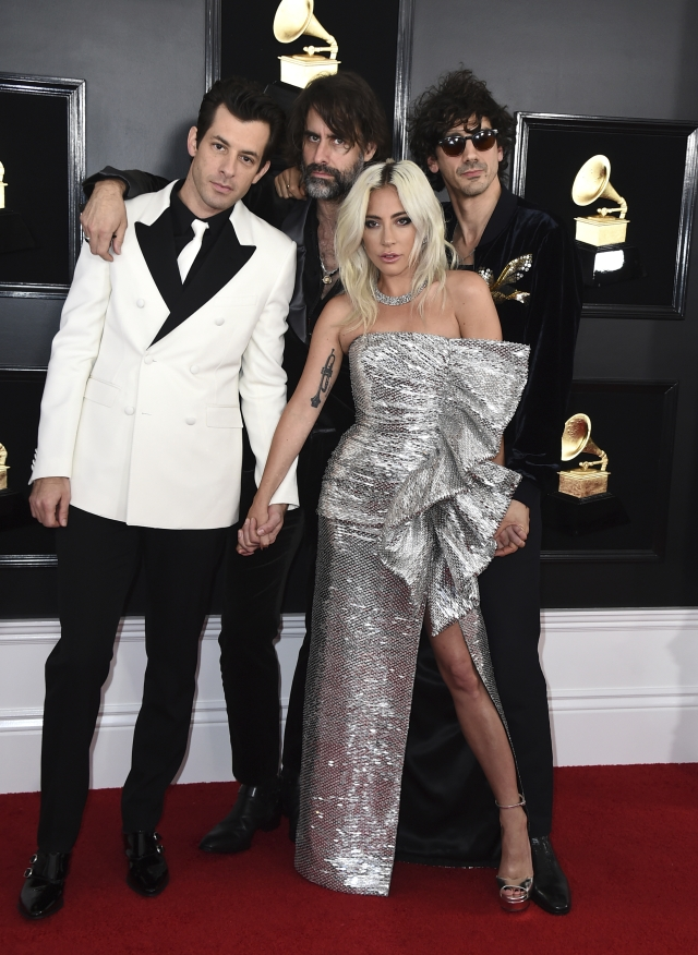 LR: Mark Ronson, Andrew Wyatt, Lady Gaga, and Anthony Rossomando