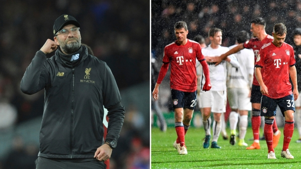 Jurgen Klopp's Liverpool lock horns with Bayern Munich in the first leg of their UEFA Champions League round of 16 tie at Anfield.
