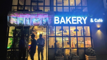 An outlet of Karachi Bakery in Bengaluru was on Friday, 22 February, forced to cover up the word 'Karachi' on its name board after a mob protested.