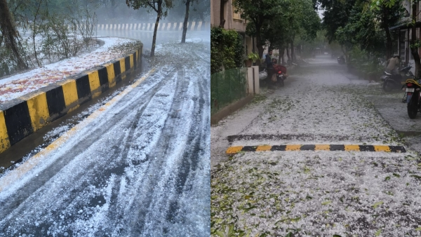 """Is this Noida or Shimla?"" ask netizens on Twitter."