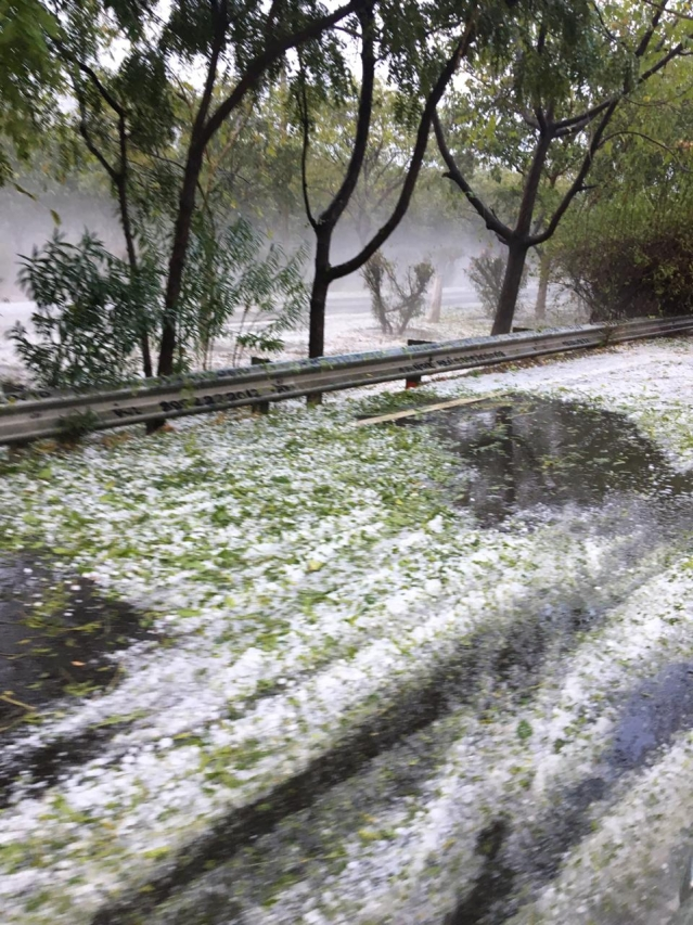 Intense hailstorm hit Gurugram on Thursday.