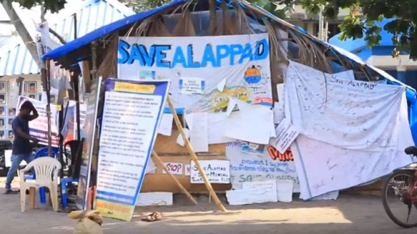 Alappad's residents have been protesting against mining in the area.